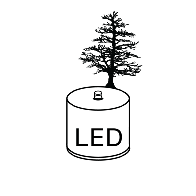 An image of LUMEN LED PINE, a product designed and made by Adam Frank.
